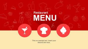 Powerpoint Templates Food Flat Restaurant Menu Powerpoint Template Slidemodel