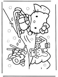 Hello Kitty Im Schnee Hello Kitty Ausmalbilder
