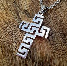 necklace men sterling silver cross