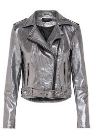 only soft faux leather silver biker jacket