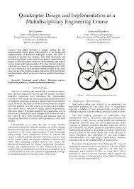 Quadcopter Design Theory Pdf Quadcopter Design And Implementation As A