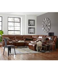 Macys Living Room Furniture Beckett Leather Power Reclining Sectional Collection Furniture