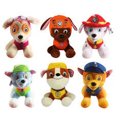 <b>6PCS PAW PATROL</b> Plush Doll Cute <b>Dogs</b> Soft Toys <b>Dog</b> Kids Gift ...