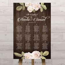 Vintage Floral Wedding Seating Chart