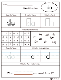 Free First Grade Sight Word Coloring Pages With High Frequency