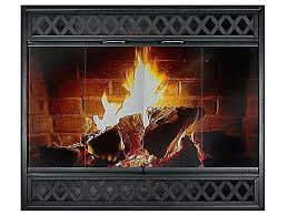 custom fireplace doors wood stove glass for