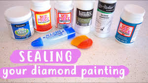Sealing Your <b>Diamond Painting</b> WHAT'S BEST? - YouTube