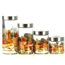 glass kitchen canisters glass kitchen canisters jar storage canister set glass canister set