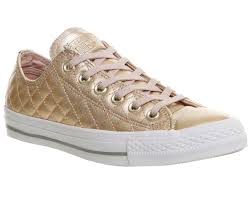 converse egret rose gold. all star low leather | converse trainers rose gold quilted exclusive 94696-529 egret g