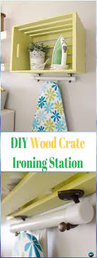 wood crate furniture diy. diy wood crate ironing station instructions furniture ideas projects diy u