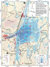Lake Simcoe Depth Chart Quaternary Features Beneath Lake Simcoe Ontario Canada