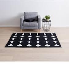 awesome cross print rug black white kmart toddler room ideas inside area rugs kmart modern