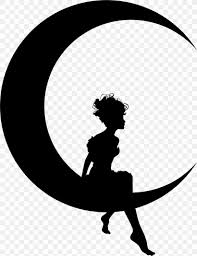 Fairy Lights Silhouette Silhouette Moon Lunar Phase Clip Art Png 1706x2224px
