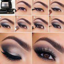 grey smoky eye makeup tutorial