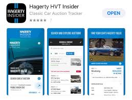auction track track live auction results with the hagerty hvt insider app