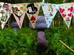 Alice In Wonderland Decorations Alice In Wonderland Decorations Party Bunting Alice In
