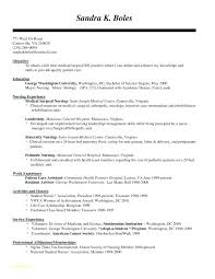 Nurse Resume Template Letter Resume Directory
