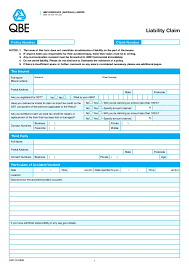 Qbe Liability Incident Report Form
