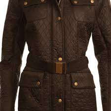 Barbour Folly Long Quilted Coat in Black &  Adamdwight.com