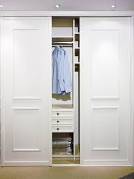 bedroom closet organization 2. Closet Organization Ideas With Sliding Doors Also Color White Door For Storing Clothes Bedroom 2