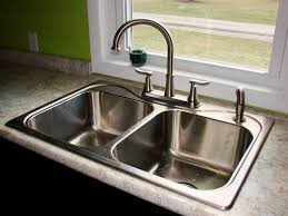 Granite Kitchen Sink Kitchen Modern Kitchen Sink Faucet With Metal Chrome Moen Pull