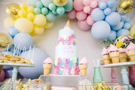 Ice Cream Themed Birthday Party Prty Yers Ideas For Supplies