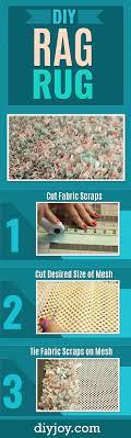 Fabric Rug Diy Easy No Sew Shag Rag Rug Everybody Loves And Wants Diy Joy