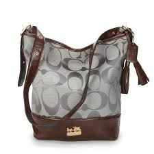 Coach Legacy Duffle In Printed Signature Medium Grey Crossbody bag ACH