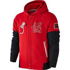 jordan zip up hoodie. men\u0027s nike air jordan sweatshirt wb marvin varsity red black button up hoody 716423 687 zip hoodie