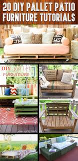 pallet furniture pinterest. 20 DIY Pallet Patio Furniture Tutorials For A Chic And Practical Outdoor Patio! Pinterest E