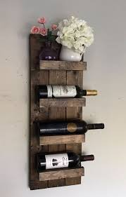 Handcrafted and high quality! Wall mounted wooden wine rack and wine bottle  display holder.