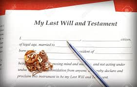 Last Will And Testement Form Last Will And Testament Form With Gold Jewelry On Red Background 22