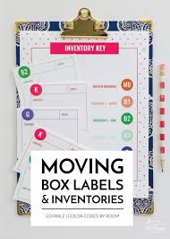 All the files are in pdf below. New To The Organization Toolbox Printable Moving Box Labels Inventories The Homes I Have Made