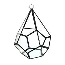 9 hanging hydroponic glass geometric terrarium teardrop candle holder vase uk geometry triangular prism with metal