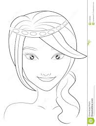 Small Picture Girl Face Coloring Page Happy For Coloring