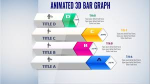 Animated Powerpoint 3d Bar Graph Slide Design Free Slide