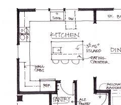 Kitchen Islands Layout Single Wall Kitchen Layout With Sink Island Via Remodelaholic