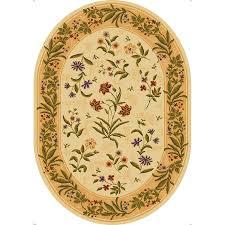 mohawk home summer flowers beige beige oval indoor inspirational area rug common 8 x