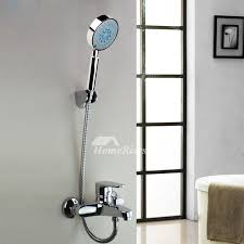handheld shower chrome silver wall mount
