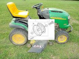 replacing wheel bushings on a riding mower john deere