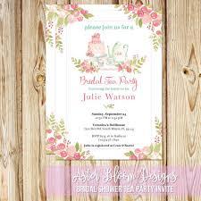 Tea Invitations Printable Bridal Shower Tea Party Invitation Printable High Tea Invite