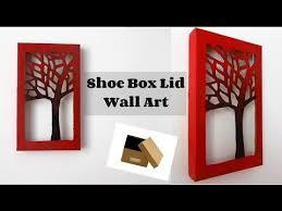 diy room decor shoe box lid wall art