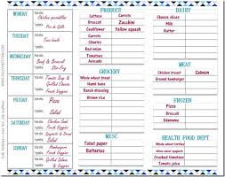Grocery Chart Spring Cleaning Time Get Organized Free Grocery List Meal
