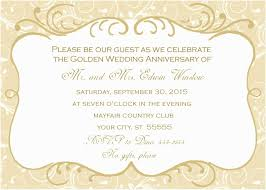 Invitation Free Templates Sample Invitation Card For Golden Wedding Anniversary 50th