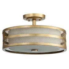 chandeliers great veil 3 light antique gold semi flush mount light semi flush mount lighting