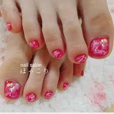 夏リゾート浴衣フットシンプル 上田のネイルデザインno4181079