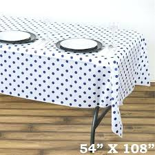 plastic polka dot tablecloth perky polka dots disposable plastic table cover white royal blue black and plastic polka dot tablecloth