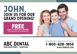 Grand Opening Postcards 91 Brilliant Dentist Direct Mail Postcard Advertising Examples