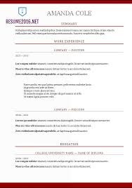 Resume Template Word 2017 | Learnhowtoloseweight.net