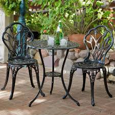 best ing home decor nassau 3 piece black metal frame bistro patio dining set